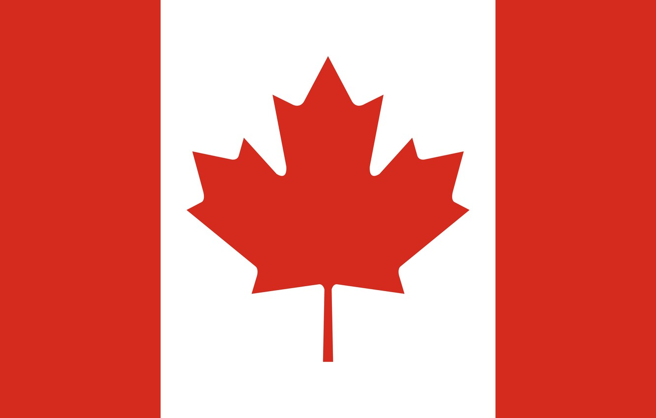 Photo wallpaper red, white, canada, flag