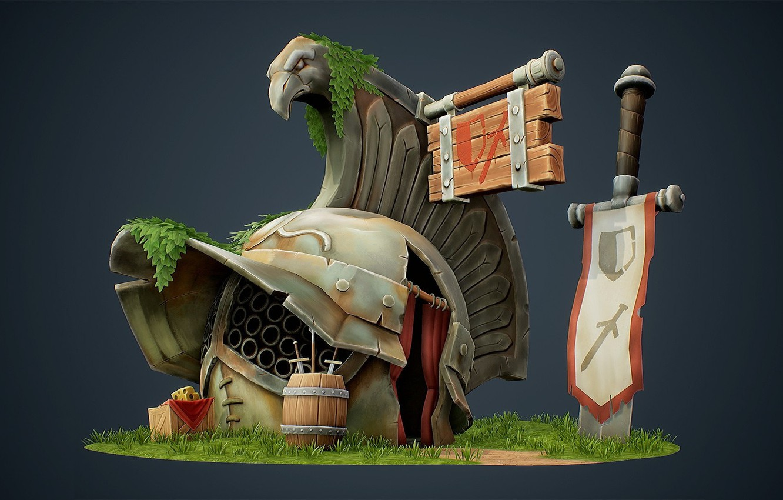 Photo wallpaper fantasy, art, children's, Ye Lil' Gladiators' Armory, Jourdan Tuffan