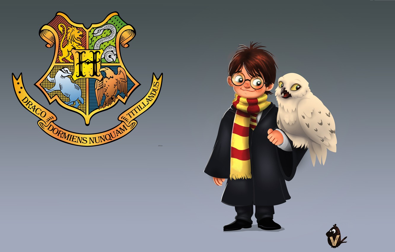 Photo wallpaper art, Harry Potter, children's, snowy owl, Vipin Jacob, Hedwig, Harry and Hedwig, Hedwig, Hedwig