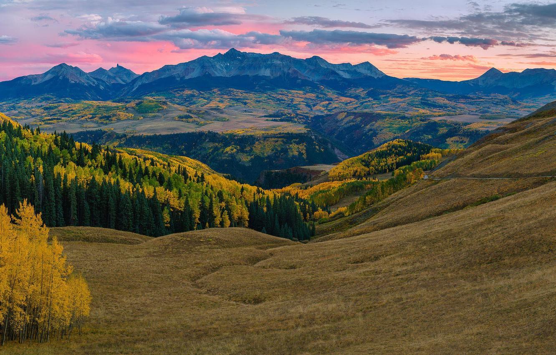 Photo wallpaper autumn, mountains, Colorado, USA