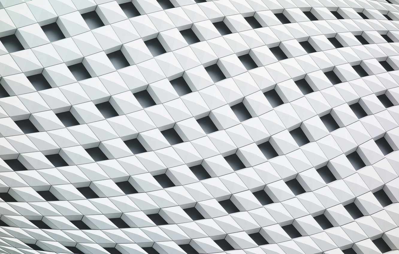 Photo wallpaper white, structure, squares