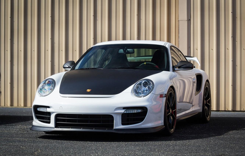 Photo wallpaper Porsche, Black, White, Wheels, GT2RS