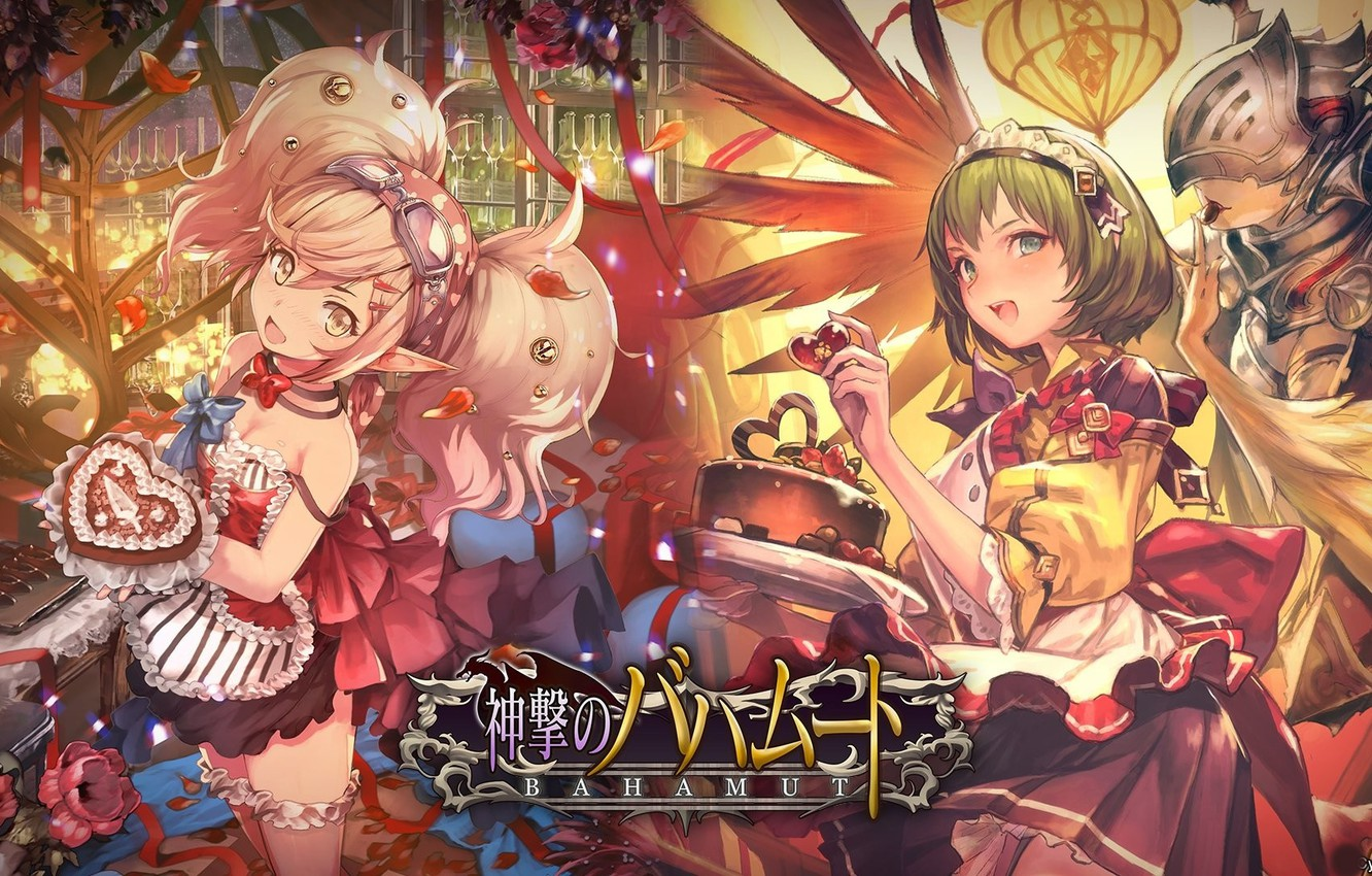Photo wallpaper kawaii, game, armor, anime, food, pretty, manga, sugoi, maid, bishojo, lolita, loli, japonese, Bahamut