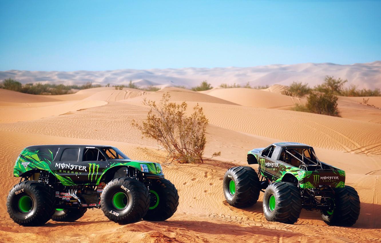 Photo wallpaper the sky, the dunes, desert, dunes, photographer, Larry Chen, Doonies, monster trucks, two things