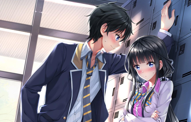 Photo wallpaper blush, asian, suit, manga, japanese, oriental, asiatic, tie, Yasaka High School, Masamune-Only no Revenge, Masamune …