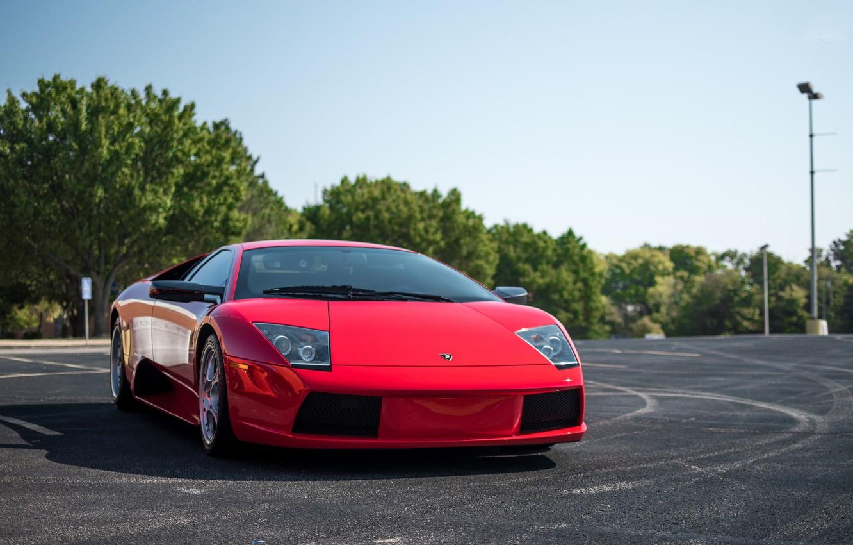 Photo wallpaper Lamborghini, Red, Murcielago