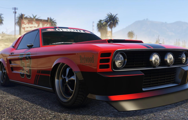 Wallpaper Mustang, cars, Grand Theft Auto V, gta 5, Gta, Gta