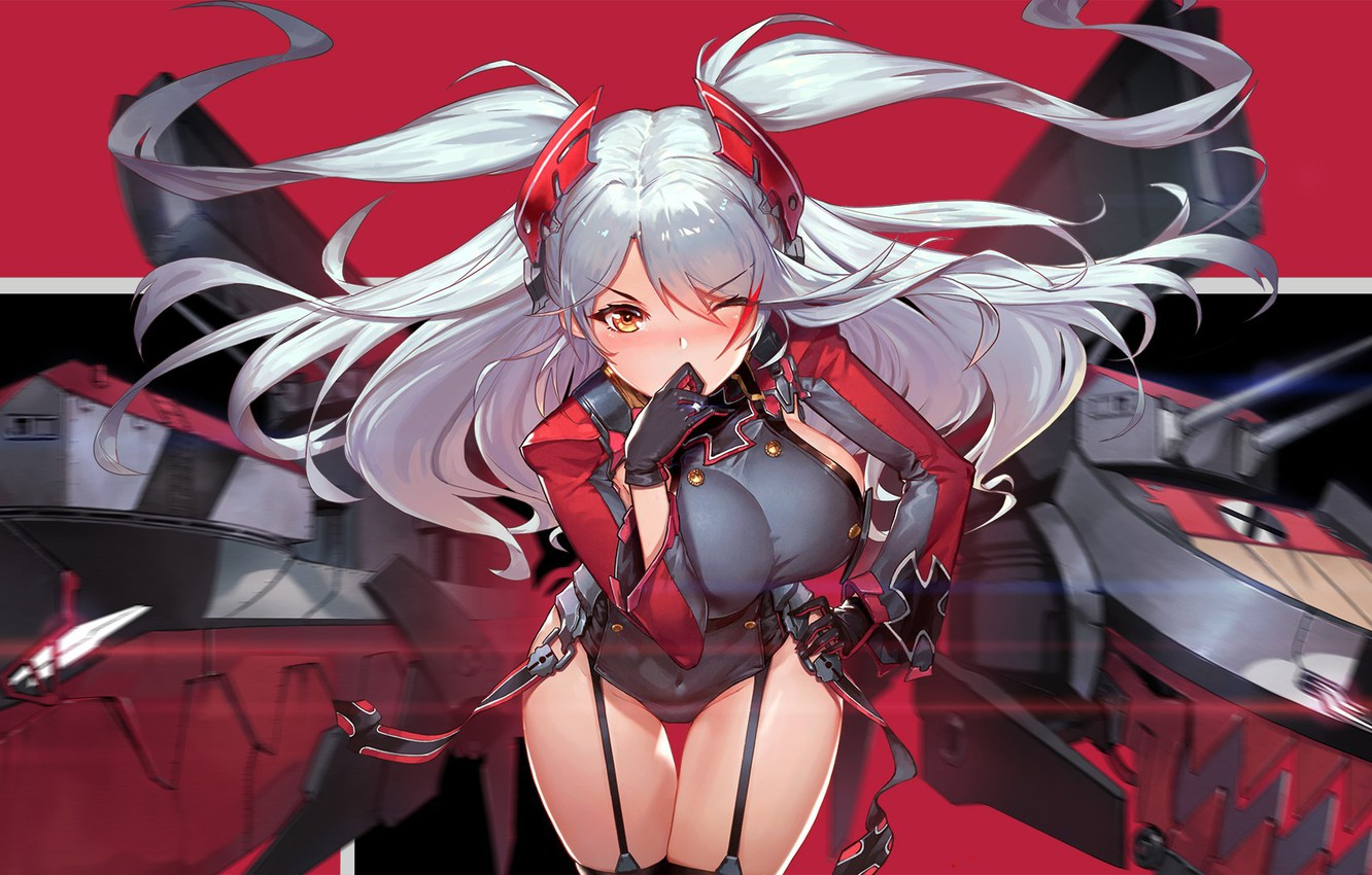 Photo wallpaper kawaii, mecha, weapon, big, anime, asian, manga, oppai, bishojo, seifuku, kyojin, japonese, Azur Lane, tekai