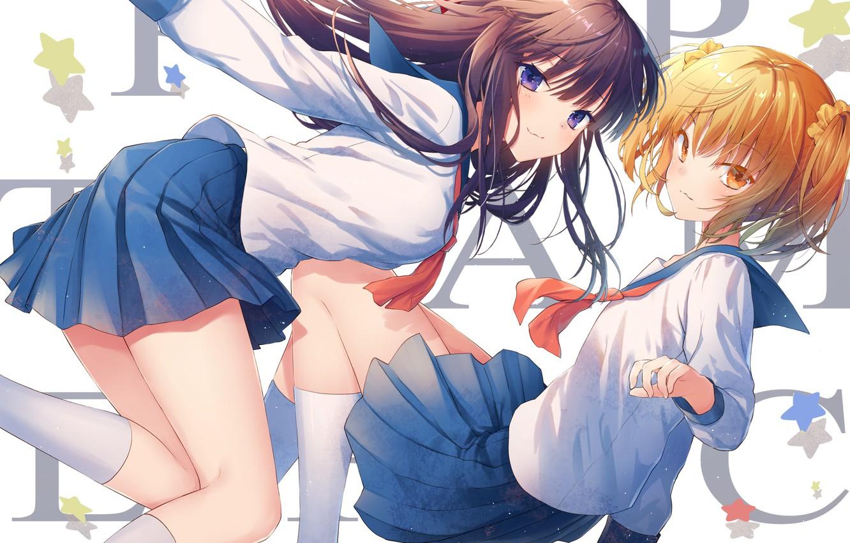 Photo wallpaper girls, anime, art, Pop Team Epic