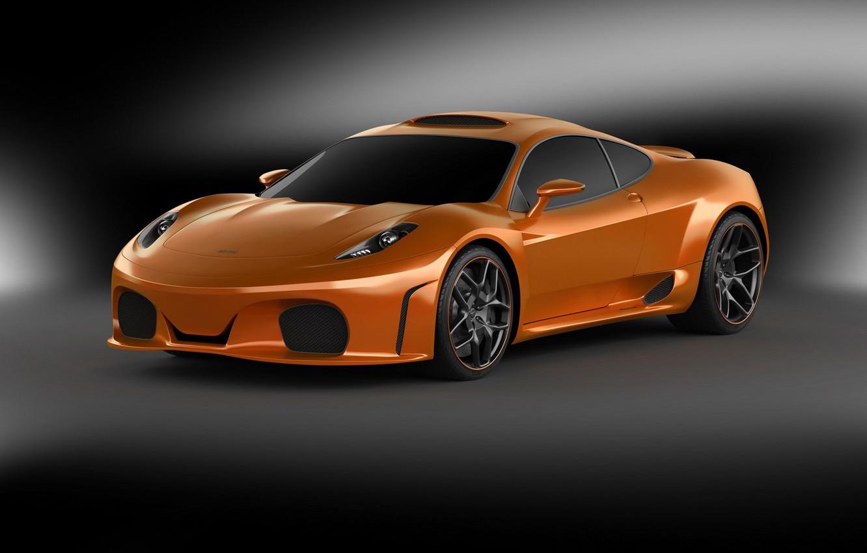 Photo wallpaper supercar, orange, Novitec TuLesto