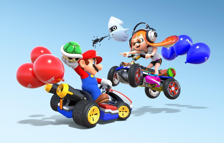 Wallpaper Girl Game Mario Man Nintendo Mario Kart 8