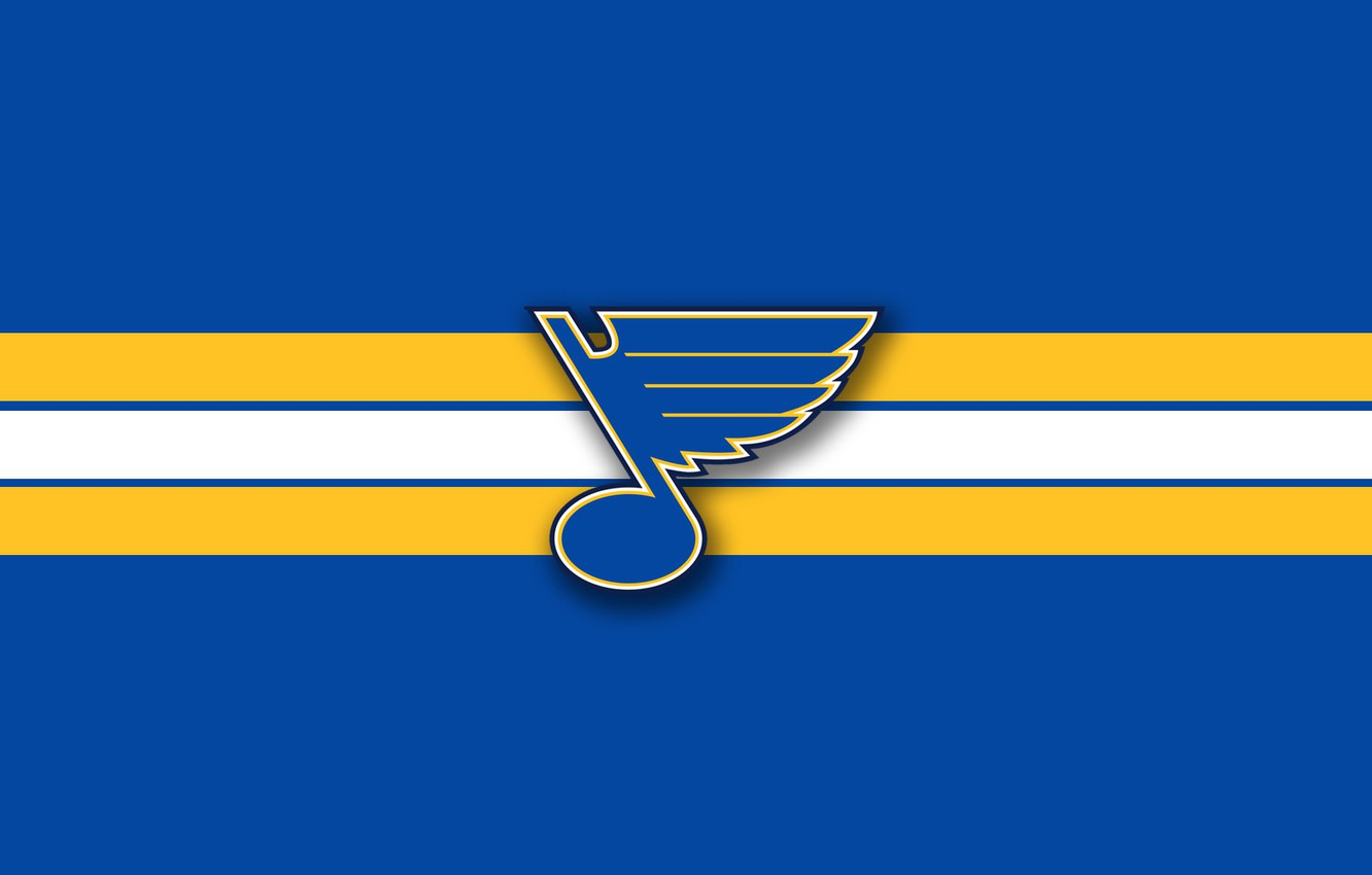 Wallpaper Wing Emblem Note Nhl Nhl St Louis Blues Hockey