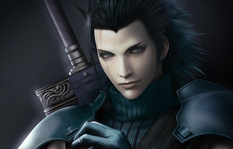 Wallpaper Hair Soldiers Guy Final Fantasy 7 Crisis Core Zack