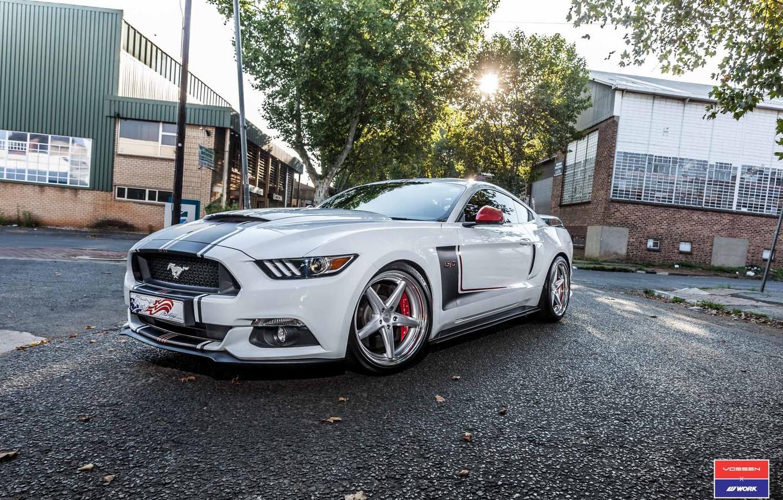 Photo wallpaper Mustang, Ford, Work, Vossen