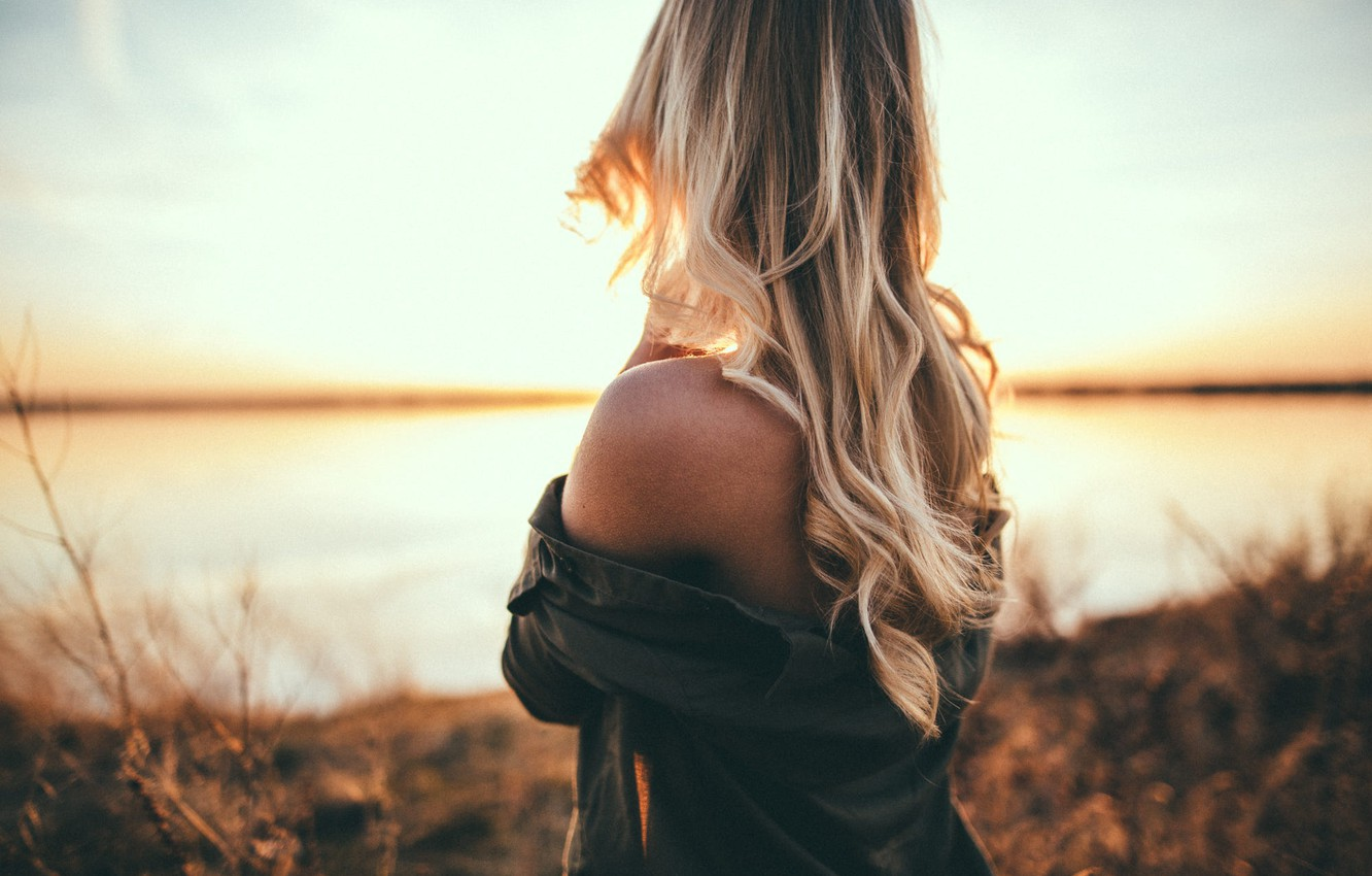 Photo wallpaper girl, hair, back, Ben Parker
