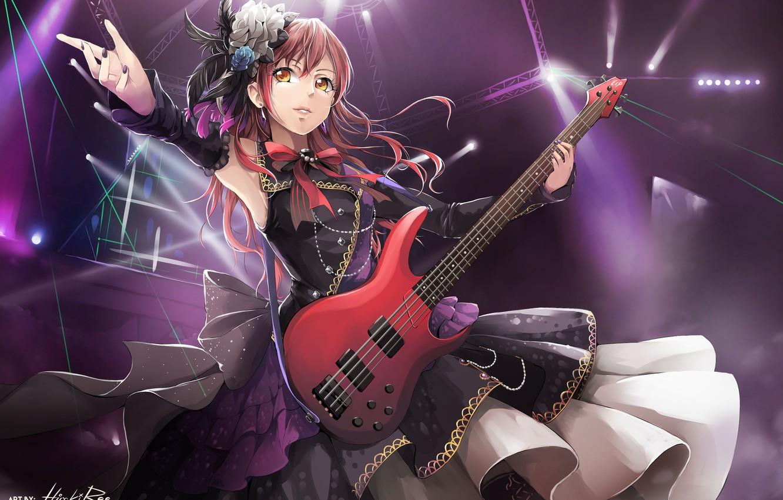 Photo wallpaper girl, music, guitar, anime, art, hiroki ree, imai lisa, bang dream!