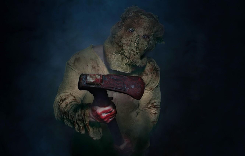 Photo wallpaper blood, maniac, axe