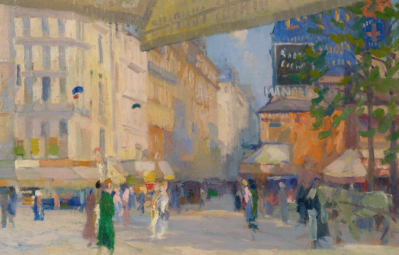 Photo wallpaper picture, the urban landscape, Elie Anatole Pavil, Elie Anatole Pavil, Paris Street