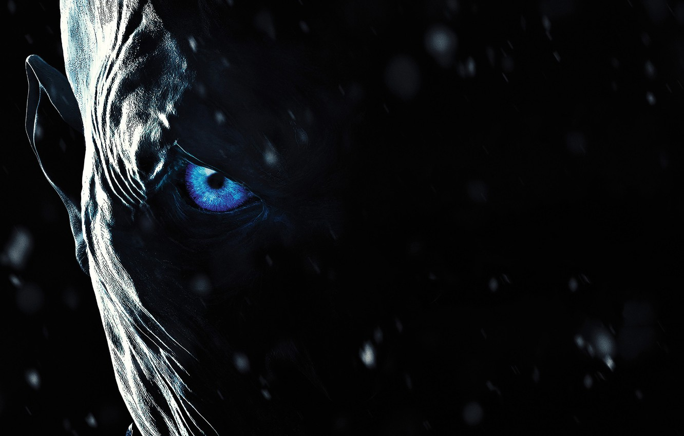 Photo wallpaper zombie, ice, blizzard, blue eyes, snow, face, A Song of Ice and Fire, Game of …