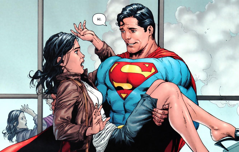 Photo wallpaper Girl, Smile, Girl, Costume, Hero, Superman, Comic, Cloak, Superhero, Hero, Smile, Superman, Clark Kent, Lois …