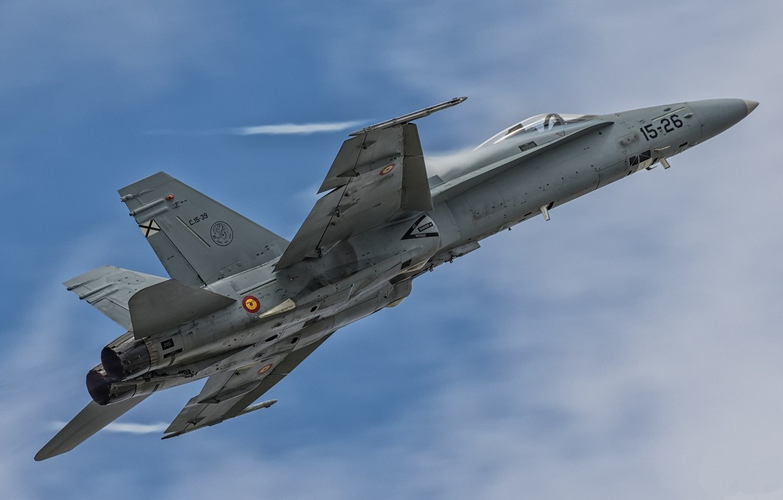 Photo wallpaper the sky, flight, F/A-18 Hornet, combat aircraft