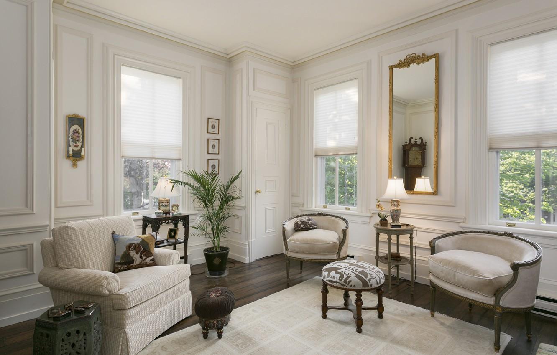 Photo wallpaper design, style, sofa, furniture, chair, window, living room
