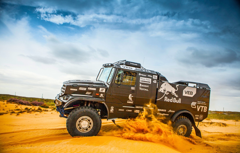 Photo wallpaper Sand, Sport, Race, Master, Kamaz, Dakar, Rally, KAMAZ, Sport, Master, Kapatnik