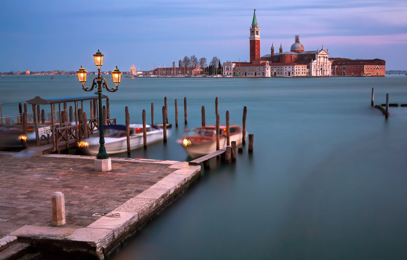 Photo wallpaper Italy, Venice, Italy, Venice, Panorama, channel, lagoon, Grand Canal