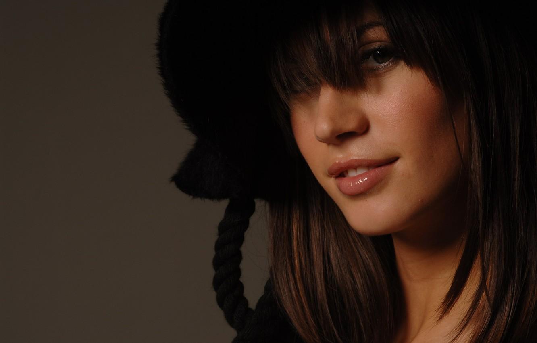 Photo wallpaper girl, sexy, model, hat, brunette, sexy, beauty, Melissa Satta, Melissa Satta