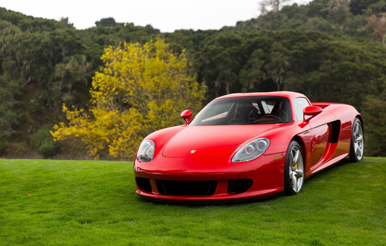 Photo wallpaper Porsche, Red, Carrera