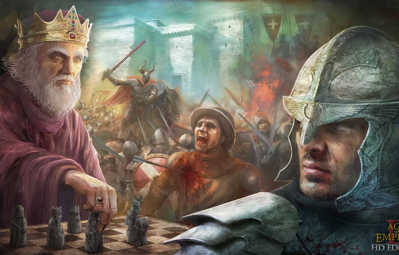 Photo wallpaper sword, game, soldier, war, dead, crown, man, ken, blade, death, horse, king, knight, pearls, arrow, …