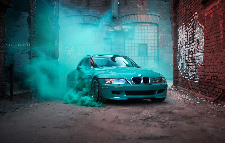 Photo wallpaper car, machine, auto, bridge, city, fog, race, bmw, BMW, car, sports car, car, need for ...