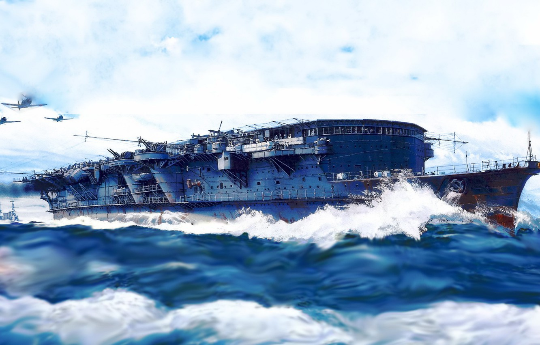 Photo wallpaper aircraft carrier, IJN, ryujo