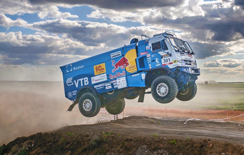 Photo wallpaper Sport, Speed, Truck, Race, Master, Russia, KAMAZ, KAMAZ, Best, Master, 301, Redbull