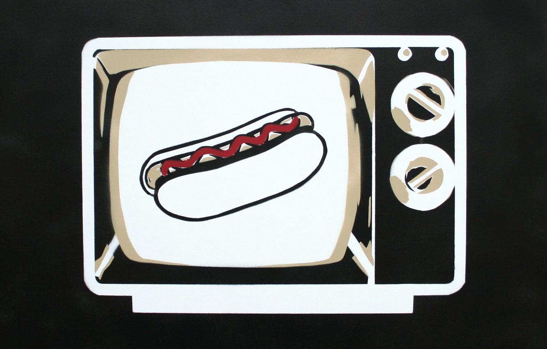 Photo wallpaper TV, hot dog, Nick Gentry, HD TV