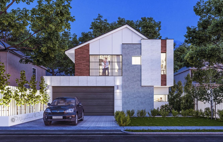 Photo wallpaper home, family, cottages, Town house, Australlia