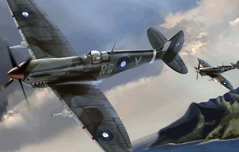 Photo wallpaper Spitfire, Supermarine, Mk.VIII, Australian air force