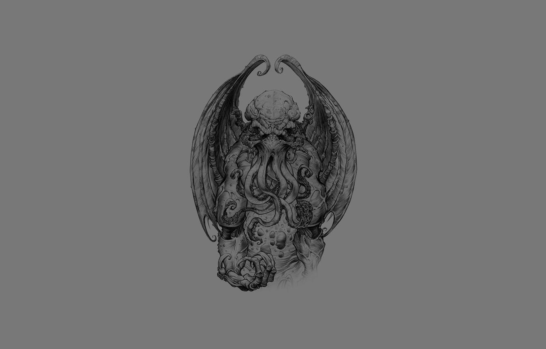 Photo wallpaper horror, Cthulhu, monster