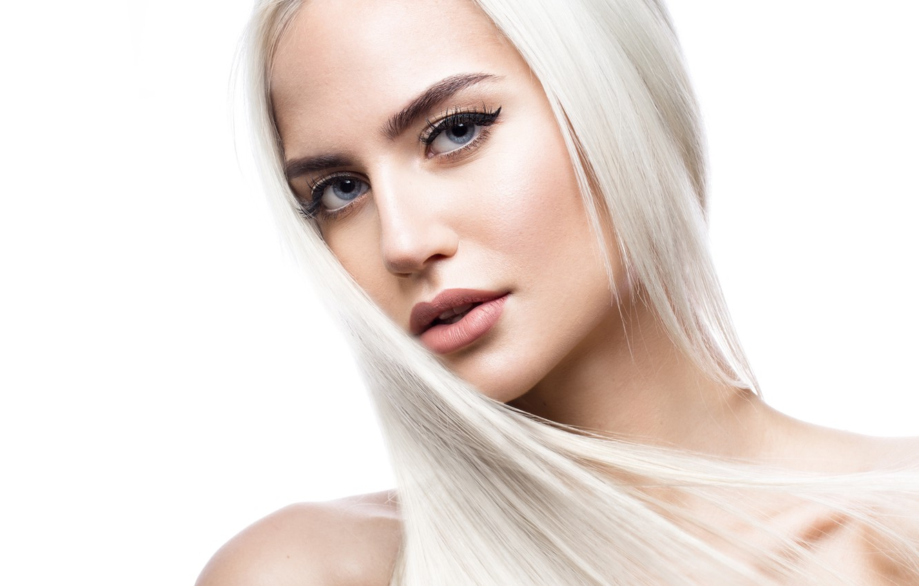 Photo wallpaper Blonde, look, make up, hairstyle