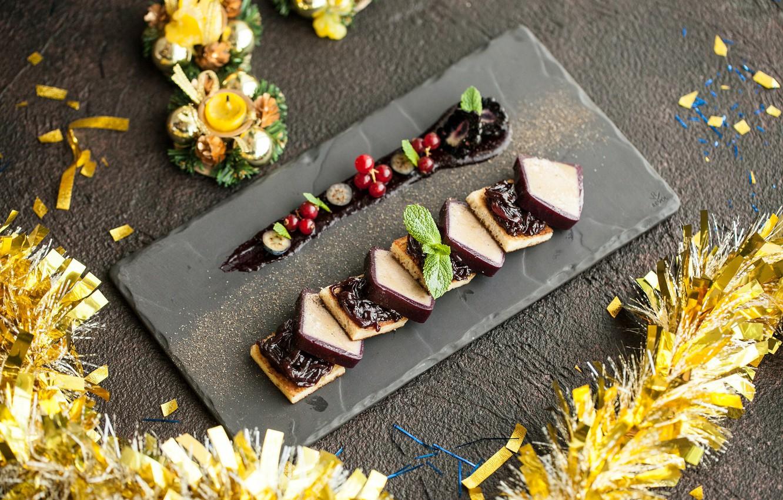 Photo wallpaper the sweetness, chocolate, mint, dessert, jam