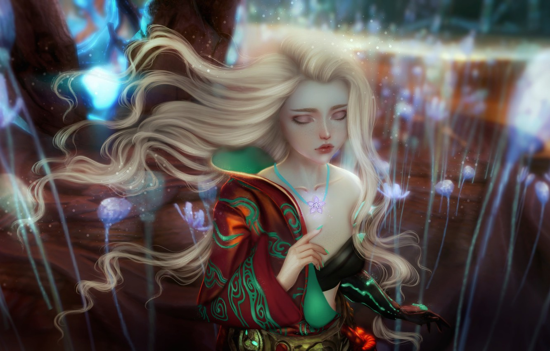 Fantasy art blonde girls not deceived