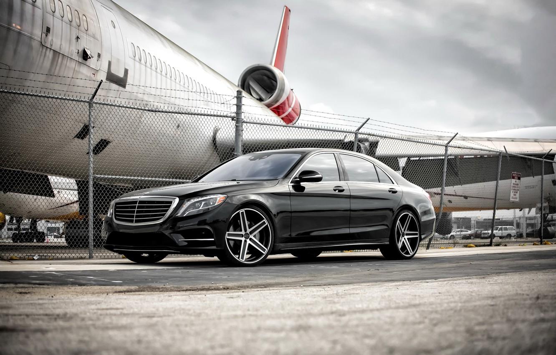 Photo wallpaper Mercedes, wheels, S550, Giovanna