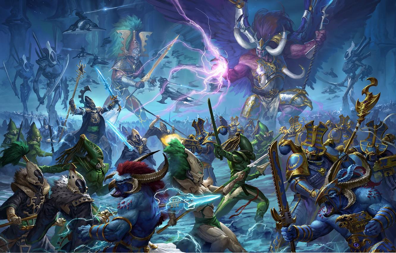 Photo wallpaper demon, avatar, chaos, space marine, eldar, prince, Warhammer 40 000, Tzeentch, w40k, primarch, Thousand Sons, …