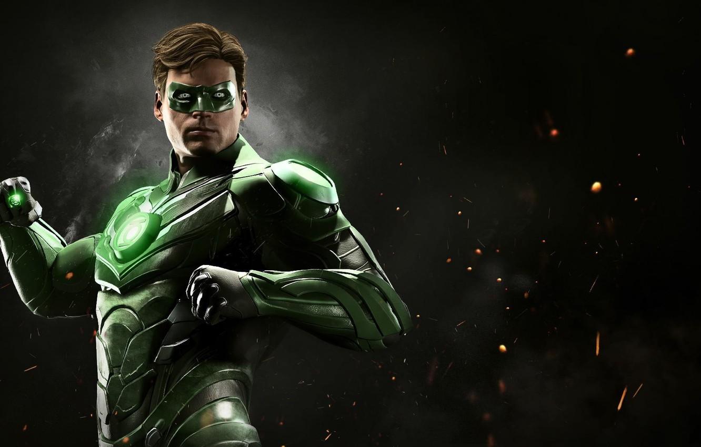 Photo wallpaper man, Green Lantern, hero, justice, uniform, yuusha, seifuku