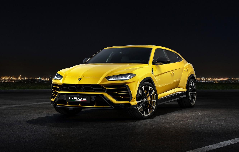 Photo wallpaper Lamborghini, front view, 2018, Urus
