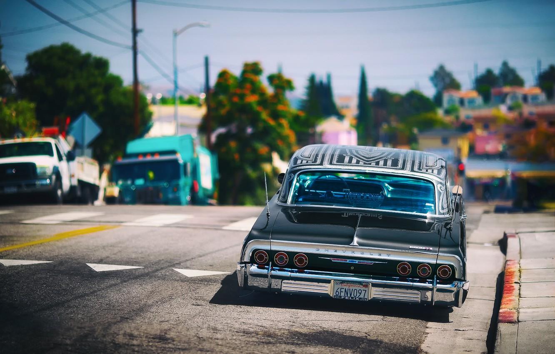 Photo wallpaper street, Chevrolet, lowrider, Impala SS, Los Angeles