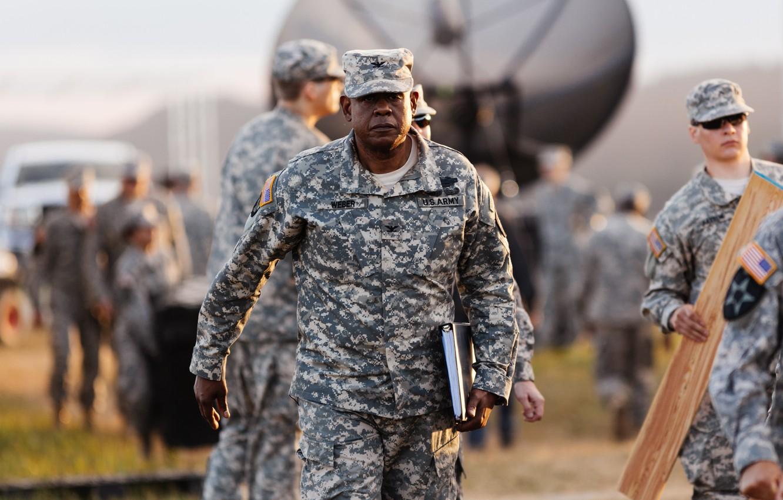 Photo wallpaper cinema, military, movie, film, Forest Whitaker, uniform, seifuku, Arrival, Colonel Weber