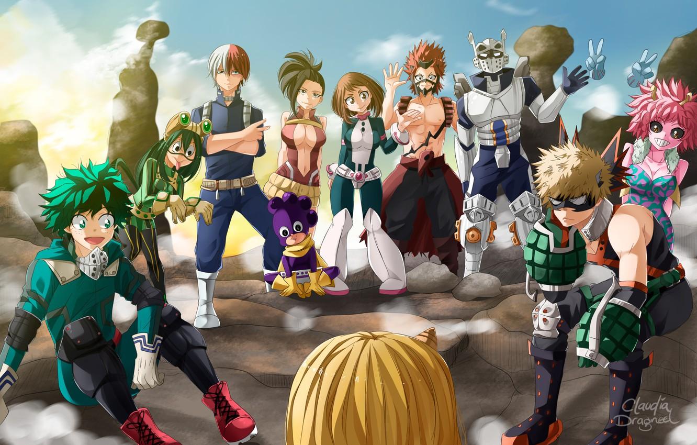 Photo wallpaper anime, hero, manga, powerful, strong, uniform, yuusha, seifuku, shounen, shonem, japonese, Boku no Hero Academy, …