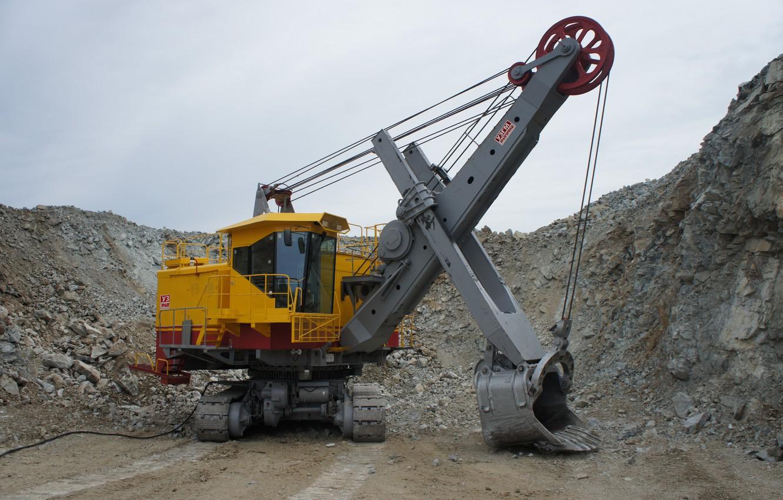 Photo wallpaper excavator, quarry, mining equipment, ECG, ЭКГ5А