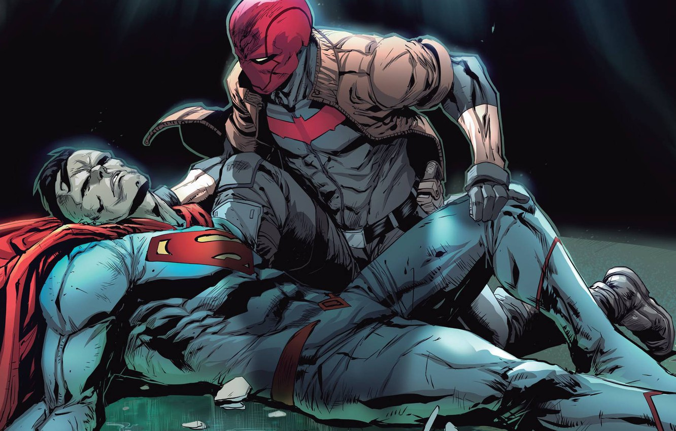 Photo wallpaper Red Hood, Bizarro, Jason Todd, rebirth, DC, outlaws, red hood and the outlaws